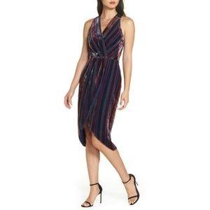NWT ANTHROPOLOGIE Dress Stripe Velvet by Harlyn M